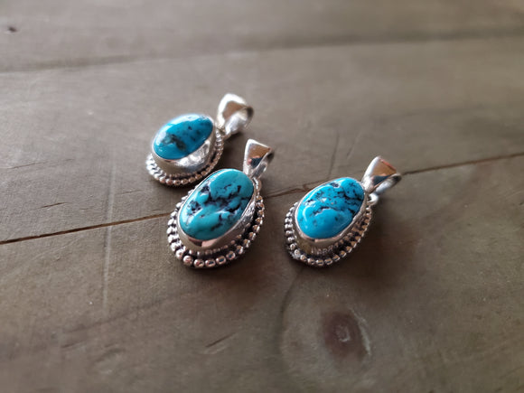 The Everyday Sterling Silver and Turquoise Pendant