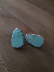 Fred Begay Turquoise Mountain Studs