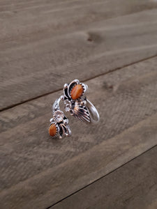 Etta Belin Sterling Silver and Spiny Oyster Adjustable Ring