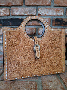 American Darling Tooled Leather Handbag