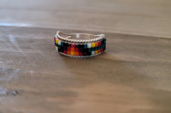 Lucille Ramone Sterling Silver and Beaded Ring