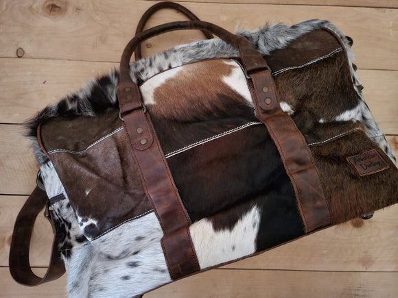 American Darling Leather and Cowhide Duffle Bag