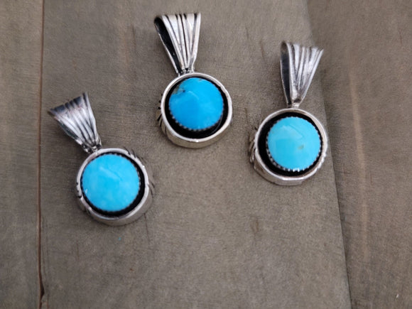 Sadie Jim Sterling Silver and Turquoise Shadow Box Pendant