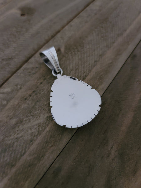 Samuel Yellowhair Sterling Silver and White Buffalo Pendant