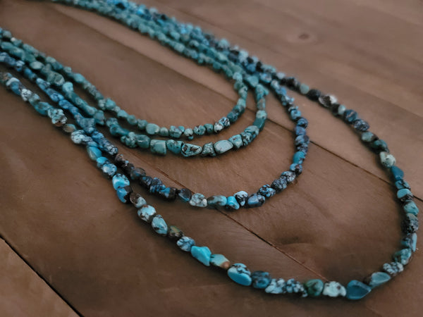 Native American Made Hand Strung Turquoise Nugget Necklace