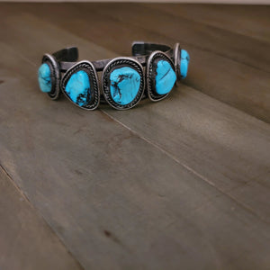 Vintage Sterling Silver and Turquoise Cuff