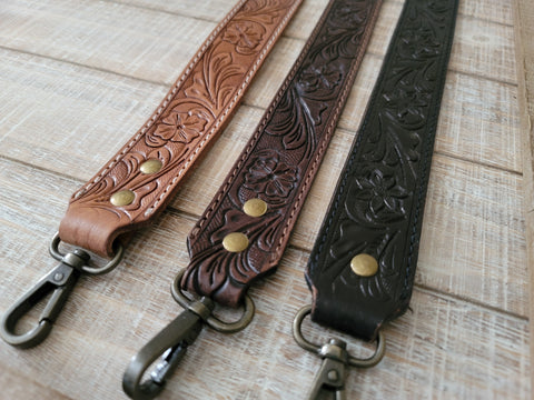 TOOLED LEATHER STRAP