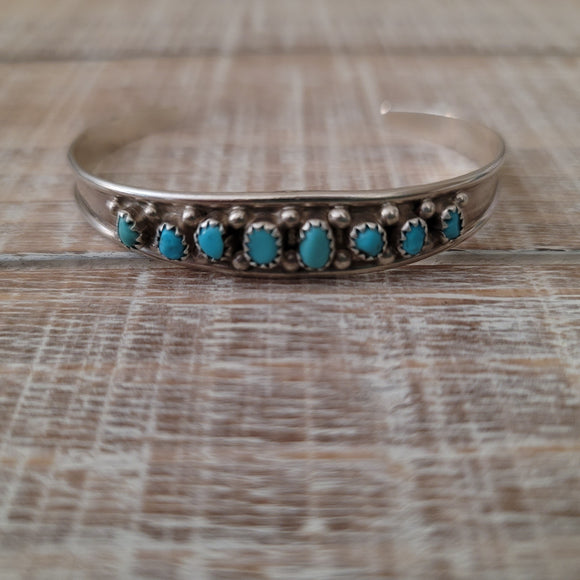 Eight Stone Turquoise Cuff