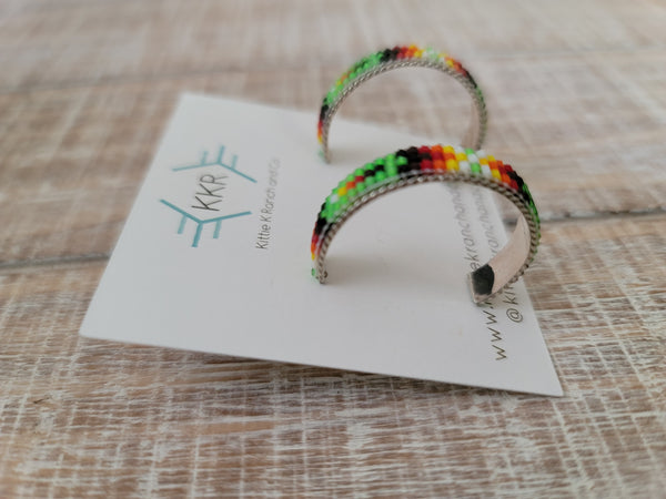 THE ALBERTA LARSEN BEADED HOOPS