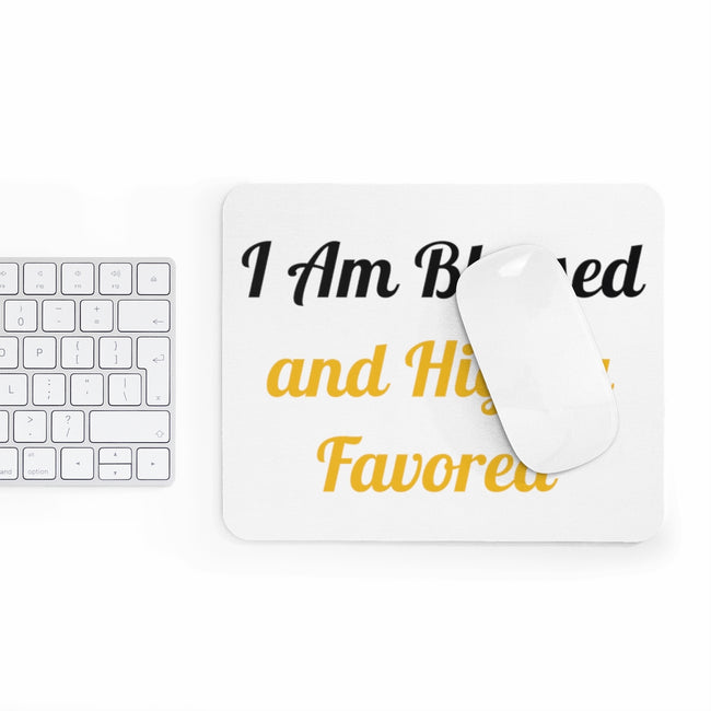 """Blessed and Favored"" - Mousepad"