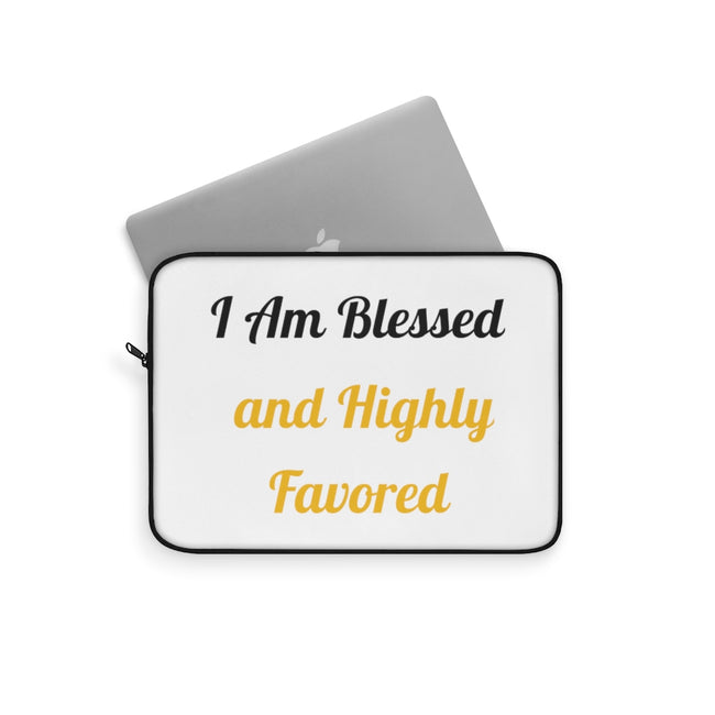 """Blessed and Favored"" - Laptop Sleeve"