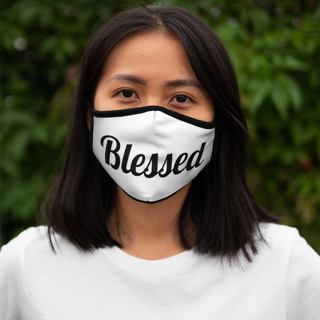 """Blessed"" Polyester Face Mask"