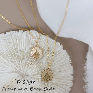 Titanium 18K Gold Plating Double Side Coin Statement Necklace | OSVEEZIE - OSVEEZIE