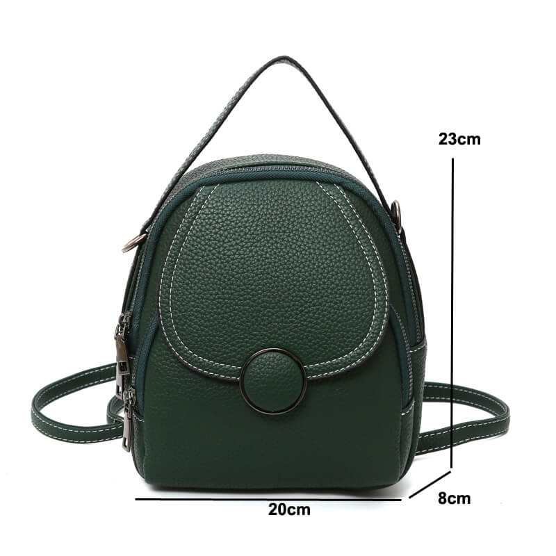 Tiny Designer Backpack for Girls Black Brown Green Backpack | OSVEEZIE - OSVEEZIE