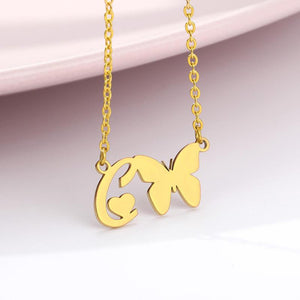 BUTTERFLY INITIAL NECKLACE | OSVEEZIE - OSVEEZIE