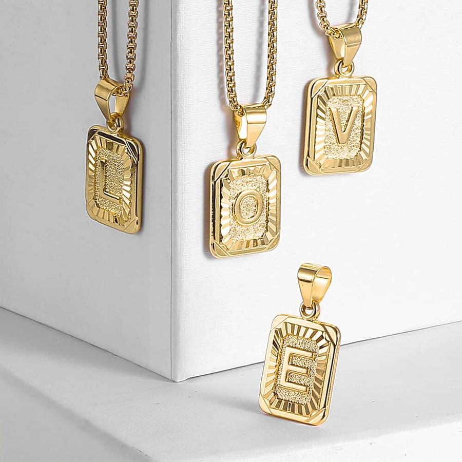 Monogram Necklace Box Chain | OSVEEZIE - OSVEEZIE