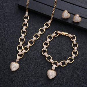High End Heart Jewelry Set | OSVEEZIE - OSVEEZIE