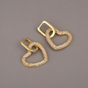 Heart Hoop Huggies Earrings | OSVEEZIE - OSVEEZIE