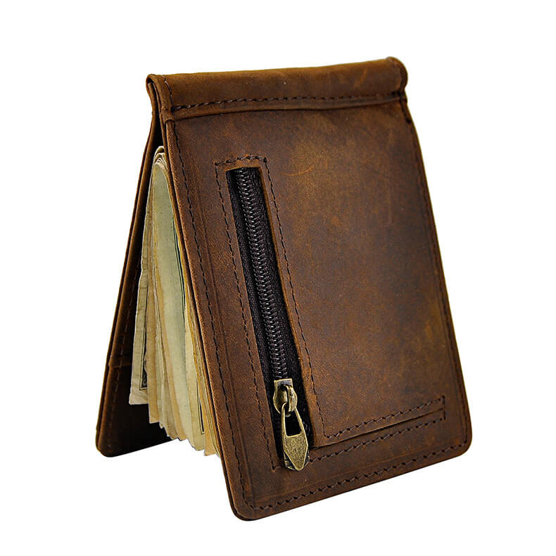 Men Front Pocket Wallet with Money Clip Genuine Leather | OSVEEZIE - OSVEEZIE