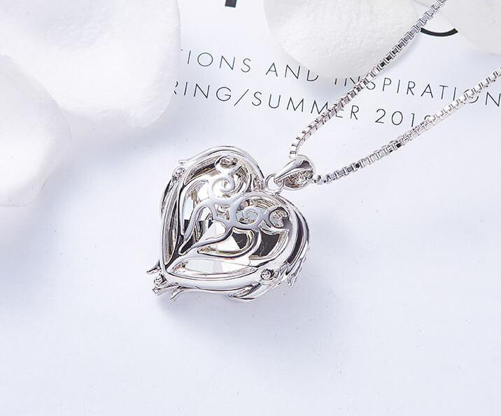Heart of Sea Crystal Necklace Angel Wings | OSVEEZIE - OSVEEZIE