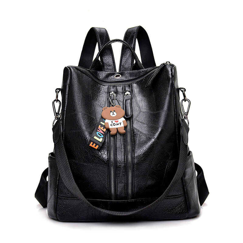 Women Leather Backpack Brown Red Black | OSVEEZIE - OSVEEZIE