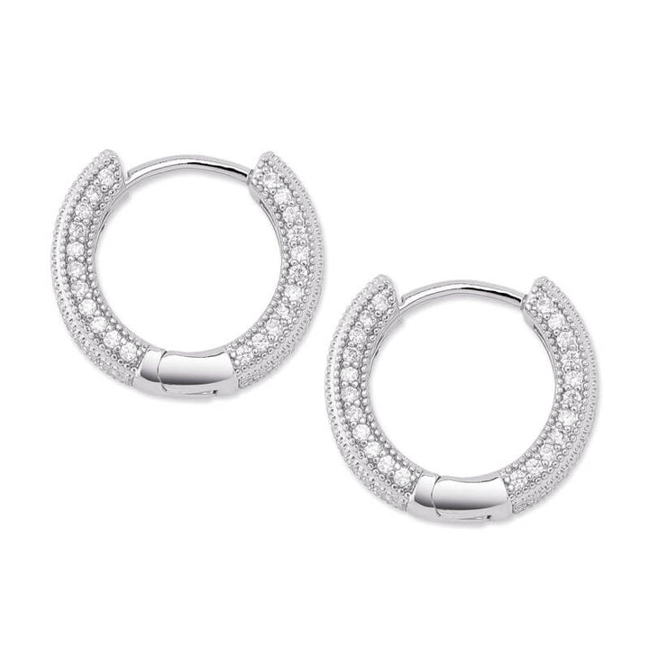 Platinum Huggies Earrings | OSVEEZIE - OSVEEZIE