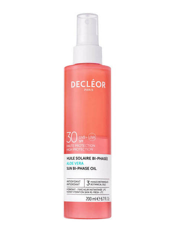 Decleor Aloe Vera Sun Bi-Phase Oil SPF 30 (200ml)