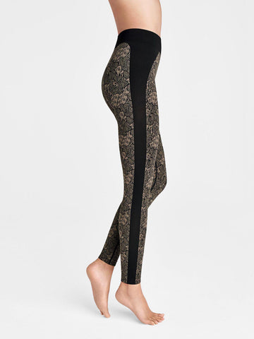 Wolford Andrea Leggings - Hunter / Black