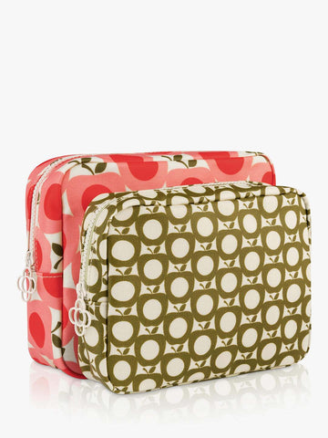 Orla Kiely Apple Double Wash Bag Set
