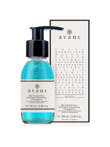 Avant Blue Volcanic Stone Purifying & Antioxidising Cleansing Gel (100ml)