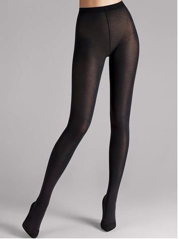 Wolford Cotton Velvet Tights (Black)