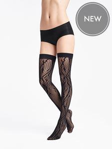 Wolford Crossband Net Stay-Up