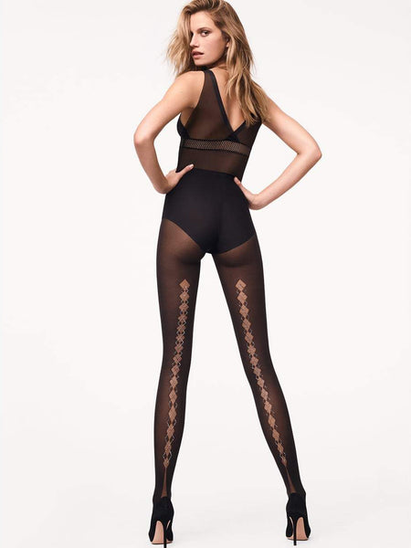 Wolford Diamond Tights (Black / Jet Hemalite)