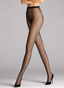 Wolford Night Sparkle Tights (Black/Silver)