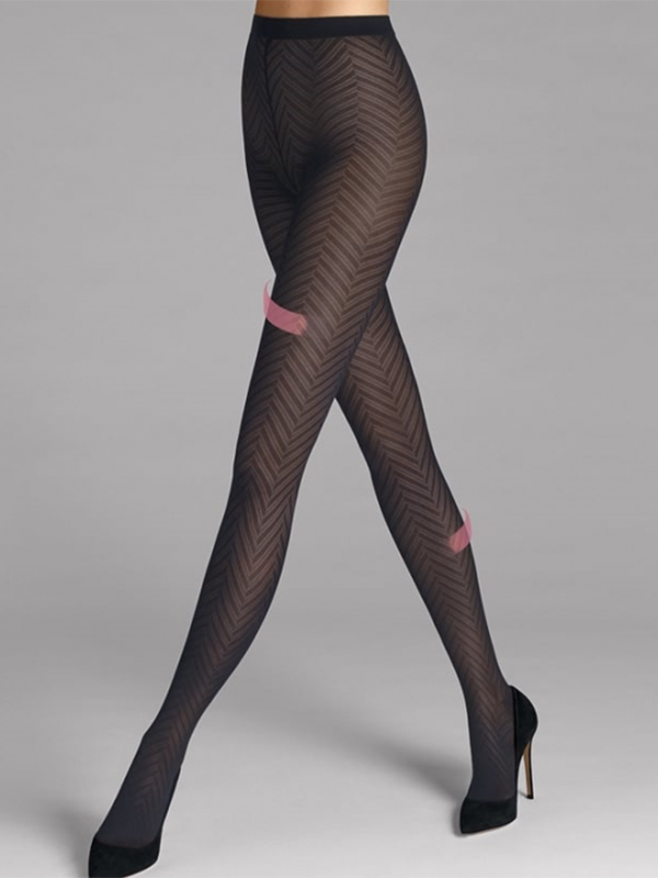 Wolford Rhoda Leg Support Tights (Midnight)