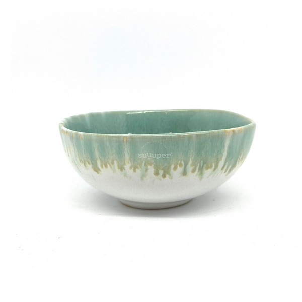 AQUA GLAZED BOWL by Suuuper
