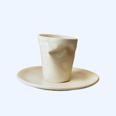 CRUMPLED ESPRESSO CUP by Mufla