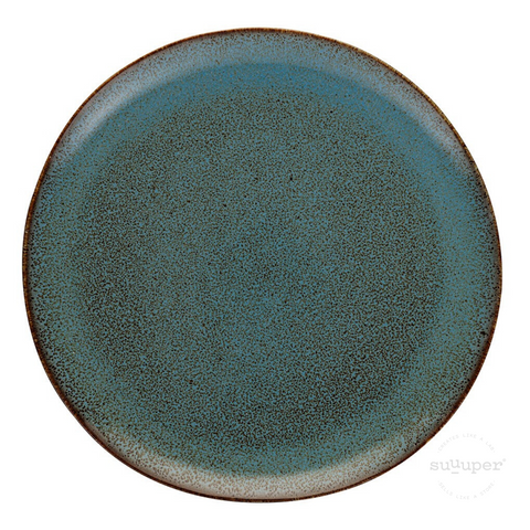 COOPER BLUE GLAZED DINNER PLATE