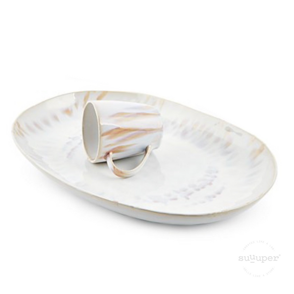 REACTIVE SHADES OVAL PLATTER by Suuuper