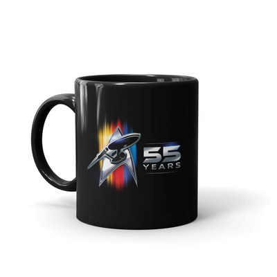 Star Trek 55th Anniversary Black Mug