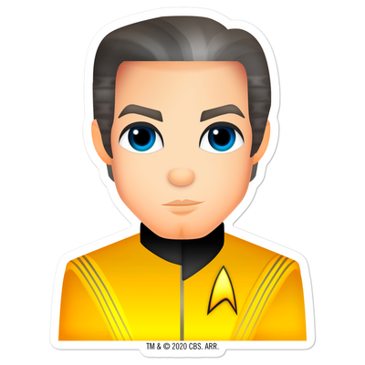 Star Trek: Strange New Worlds Pike Emoji Die Cut Sticker