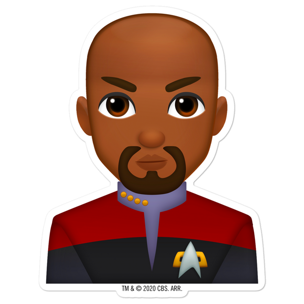 Star Trek: Deep Space Nine Sisko Emoji Die Cut Sticker