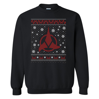 Star Trek Klingon Holiday Fleece Crewneck Sweatshirt