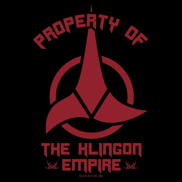 Star Trek Klingon Property Of Fleece Hooded Sweatshirt