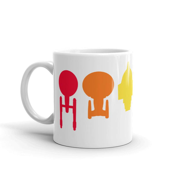 Star Trek Ships of the Line Pride White Mug