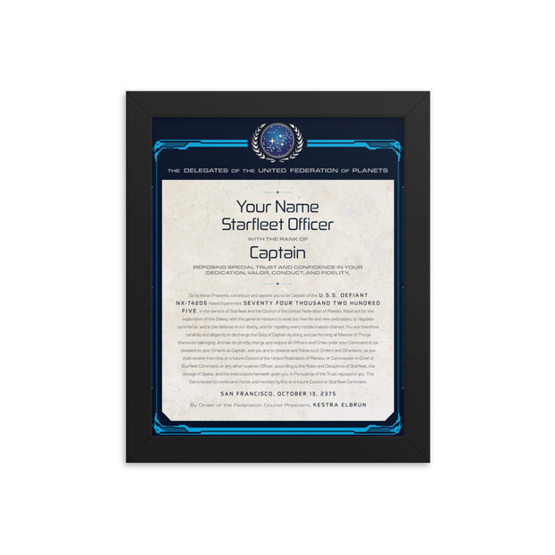 Star Trek: Deep Space Nine DS9 Captains Letter Framed Print