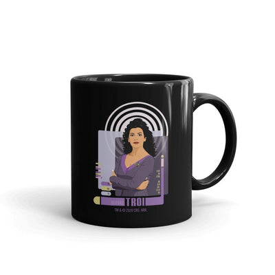 Star Trek: The Next Generation Deanna Troi Black Mug