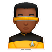 Star Trek: The Next Generation Geordi Emoji Die Cut Sticker
