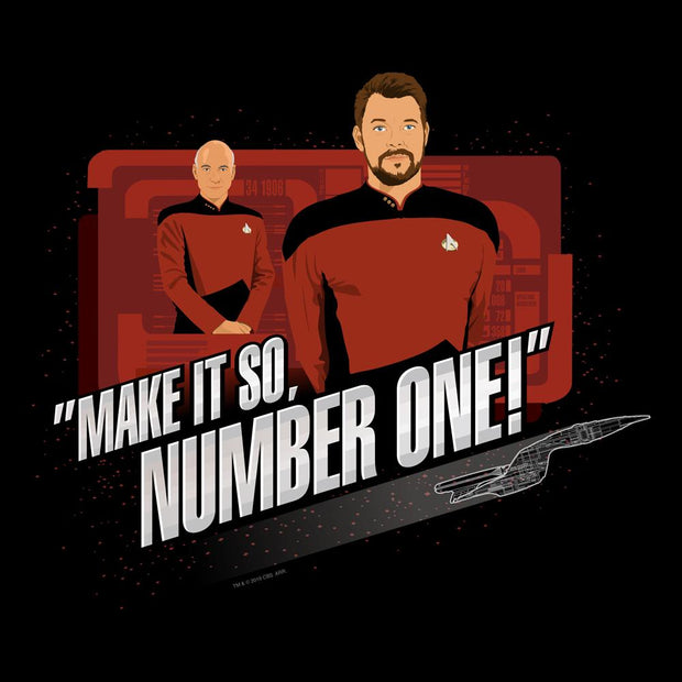 Star Trek: The Next Generation Make It So Number One Adult Short Sleeve T-Shirt