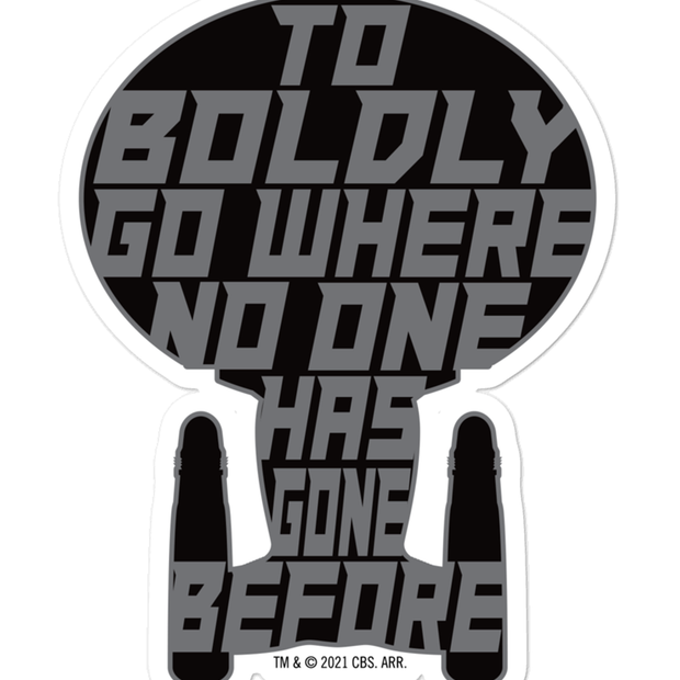 Star Trek: The Next Generation To Boldy Go Die Cut Sticker